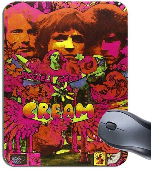 Cream Psychedelic Promo Poster Mouse Mat 1960's Rock Band High Quality Mouse Pad